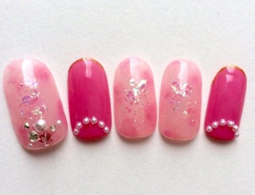 Gel Nail design : PINK